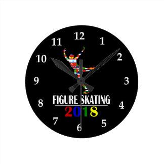 2018 FIGURE SKATING ROUND CLOCK