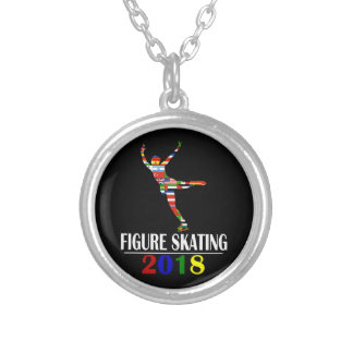 2018 FIGURE SKATING SILVER PLATED NECKLACE
