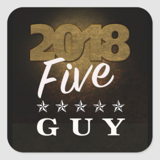 2018 Five Star Guy Gold Text Sticker