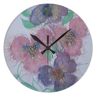 2018 flowerpower large clock
