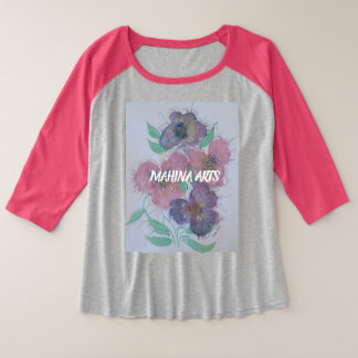 2018 flowerpower plus size raglan T-Shirt