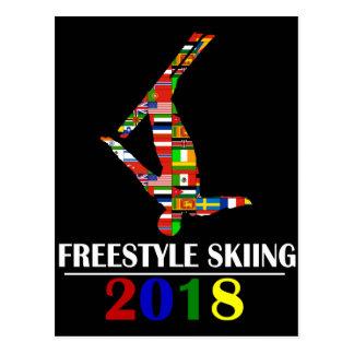 2018 FREESTYLE SKIING POSTCARD