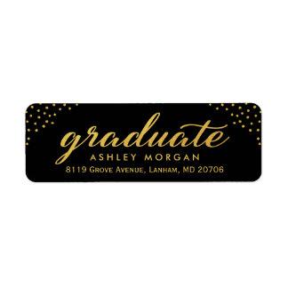 2018 Graduate Script Gold Dots Graduation