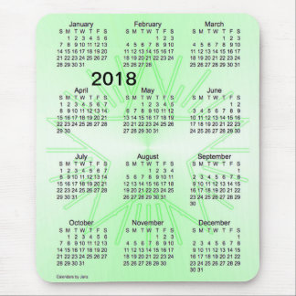 2018 Green Star Large Print Calendar by Janz Mouse Pad