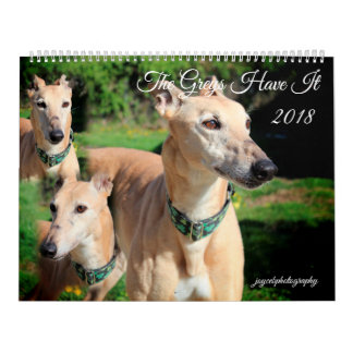 2018 GREYHOUND DOG CALENDAR