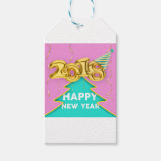 2018 happy new year gift tags