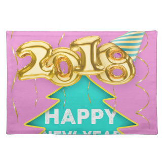 2018 happy new year placemat
