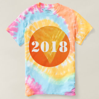 2018 HAPPY NEWYEAR Tie-Dye T-Shirt 2 color styles