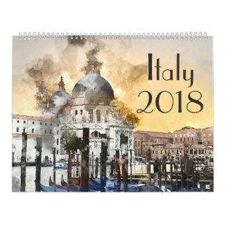 2018 Italy Art Watercolor Calendar