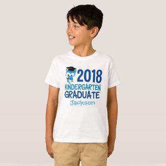 2018 Kindergarten Graduation Owl Cool Custom T-Shirt
