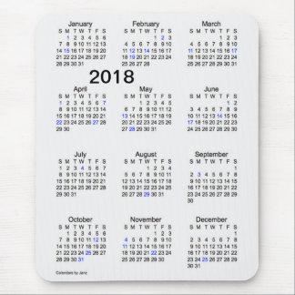 2018 Large Print Holiday Calendar by Janz Mousepad