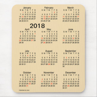 2018 Large Print Holiday Wheat Calendar by Janz Mouse Pad