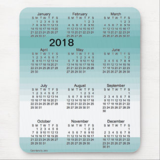 2018 Large Print Turquoise Shades Calendar by Janz Mouse Pad