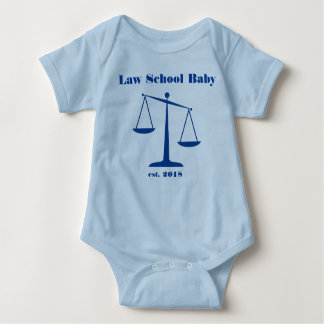 2018 Law School Baby Romper (Blue Ink)