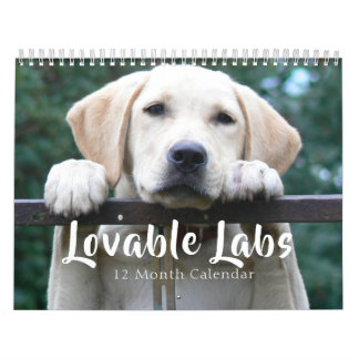 2018 Lovable Labrador Retriever Dog Calendar