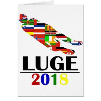 2018 LUGE CARD