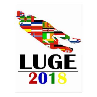 2018 LUGE POSTCARD