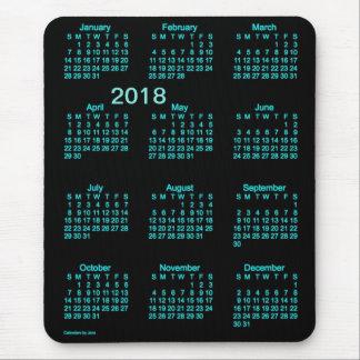 2018 Neon Blue Large Print Calendar by Janz Mouse Pad