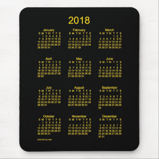 2018 Neon Gold Calendar by Janz Mouse Pad
