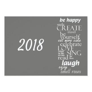 2018 New year motivational inspirational Card