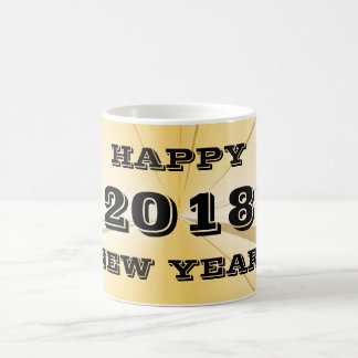 2018 New Years Day Gold Coffee Mug by Janz