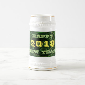 2018 New Years Day Green Beer Stein by Janz
