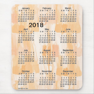 2018 Orange Lights Large Print Calendar by Janz Mouse Pad