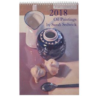 2018: Paintings by Sarah Sedwick Wall Calendar