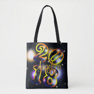 2018 Personalized  Name Tote Bag