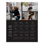 2018 Photo Collage Calendar Poster