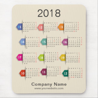 2018 Professional Business Company Calendar Mouse Pad