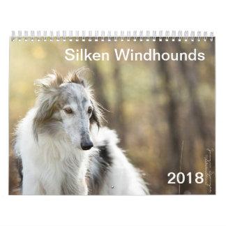 2018 Silken Windhounds (head shots) Wall Calendar