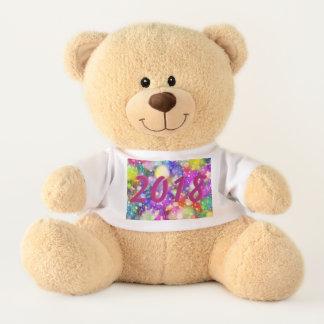 2018 Sparkling New Year Teddy Bear