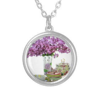 2018 Tea Time Calendar Silver Plated Necklace