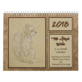 2018 The Artful Westie 12 Month Calendar by Borgo