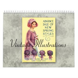 2018 Vintage Illustrations Calendar