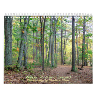 2018 Walden Pond and Concord calendar with quotes