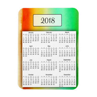 2018 Watercolor Rainbow Photo Magnet