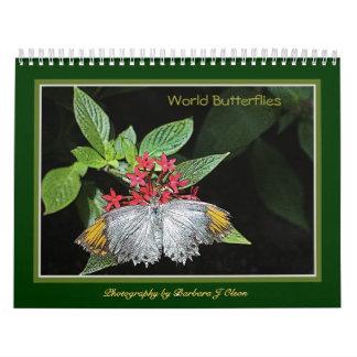 * 2018 World Butterflies Wall Calendar