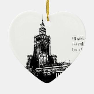 """2018 world travel top photographer top news bb "" ceramic heart ornament"