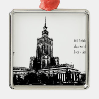"""""""2018 world travel top photographer top news bb """" Silver-Colored square ornament"""