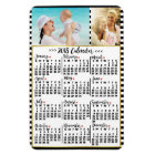 2018 Year Monthly Calendar Stripes | Custom Photos Magnet