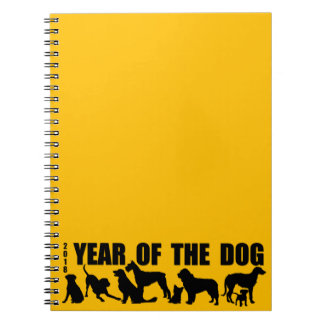 2018 Year of The Dog Yellow Notebook