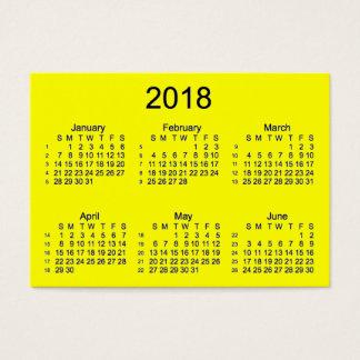 2018 Yellow 52 Week Calendar by Janz Business Card