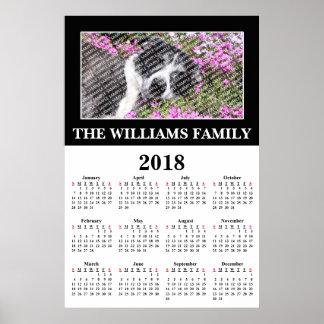 2018 Your Favourite Photo Custom Calendar Poster