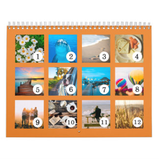 2018 Your Own Photo Easy as 1 to 12 Calendar