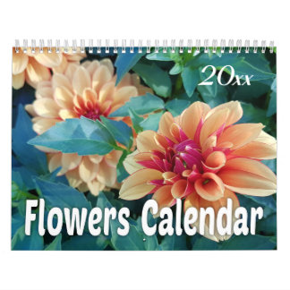 2019 Colorful Flowers Wall Calendars
