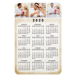 Uf Calendar 2020.2020 Personalized Photo Magnetic Fridge Calendar Magnet