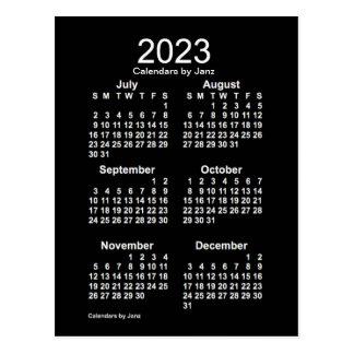 2023 Neon White 6 Month Mini Calendar by Janz Postcard