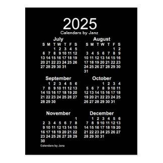 2025 Neon White 6 Month Mini Calendar by Janz Postcard